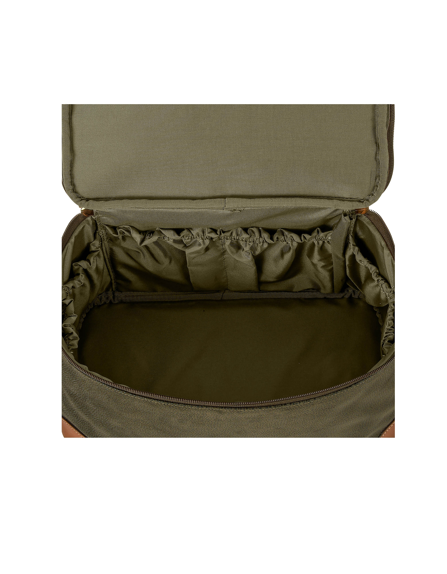Life - Olive Green Micro Suede Beauty Case Bag от Forzieri.com INT
