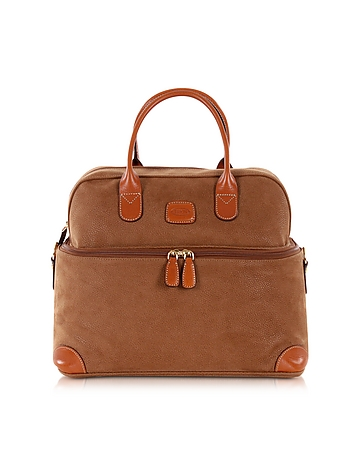 Life - Camel Micro Suede Beauty Case Bag