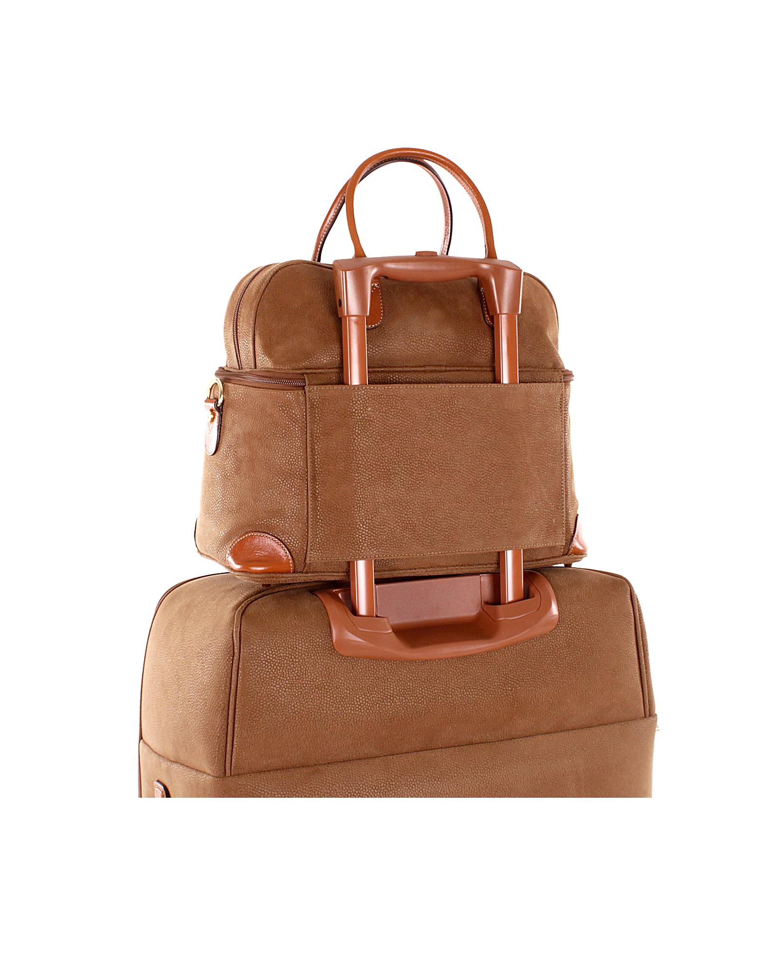 Life - Camel Micro Suede Beauty Case Bag от Forzieri.com INT