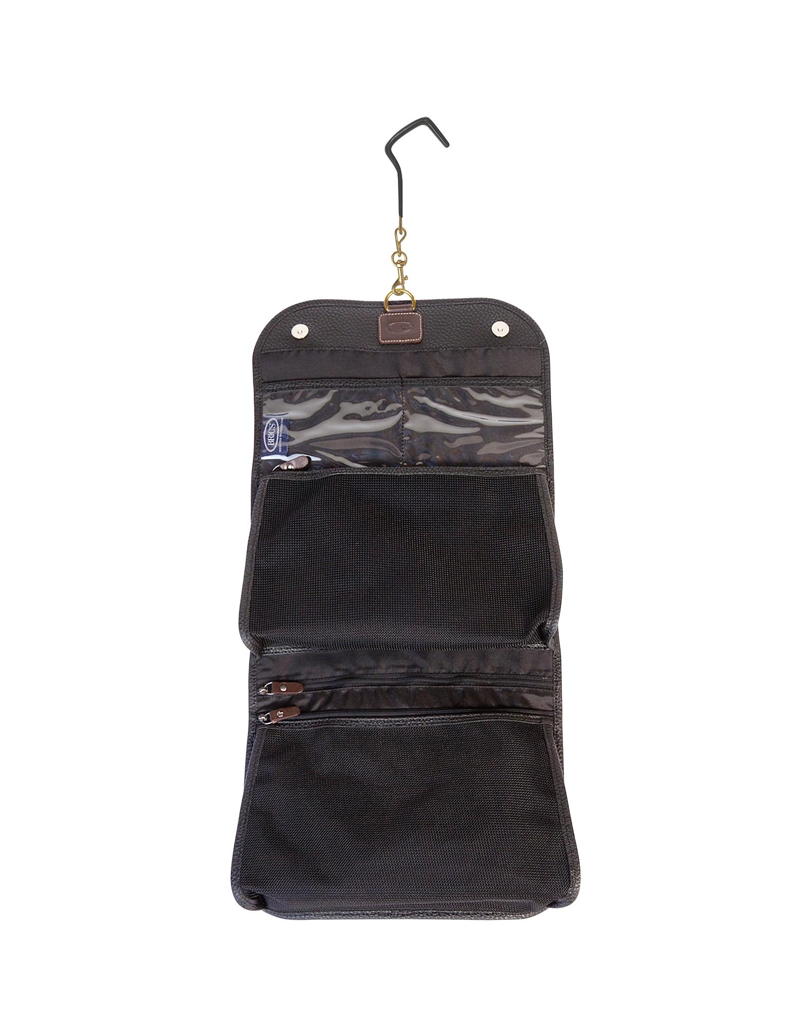 Magellano Black Tri-fold Traveler Toiletry Case от Forzieri.com INT
