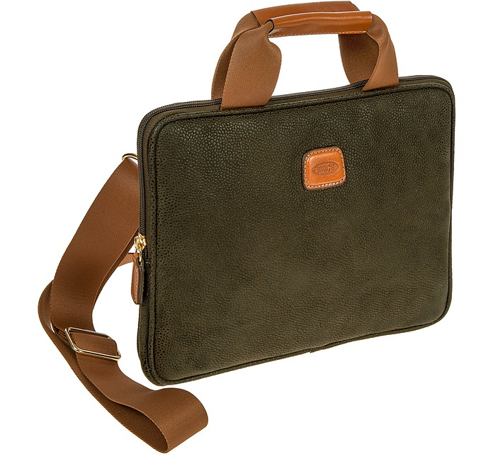 Life piccola borsa per pc tablet in micro suede verde - Borsa porta pc bric s ...