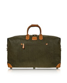 "Life Olive Green Micro-Suede 22"" Duffle Bag - Bric's"