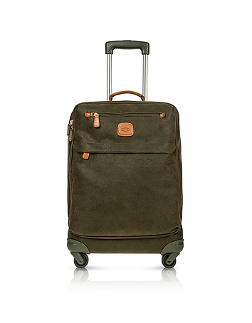 Life Olive Green Micro Suede Carry on Trolley