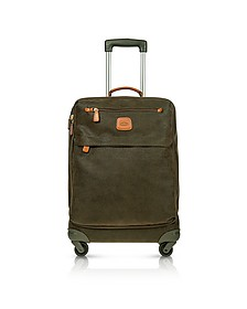Life Olive Green Micro Suede Carry on Trolley - Bric's
