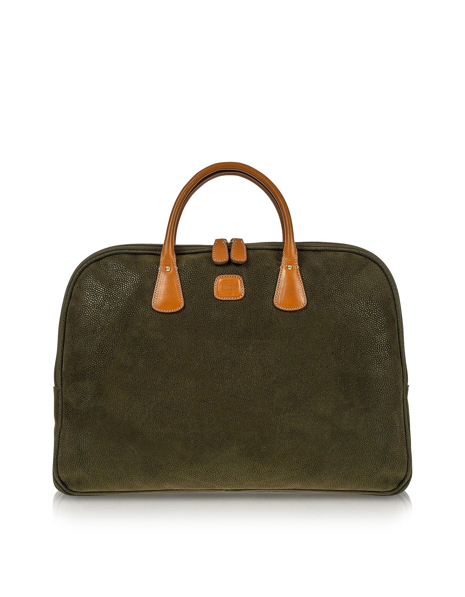 Life - Оливково-Зеленый Портфель для Ноутбука из Микро-Замши