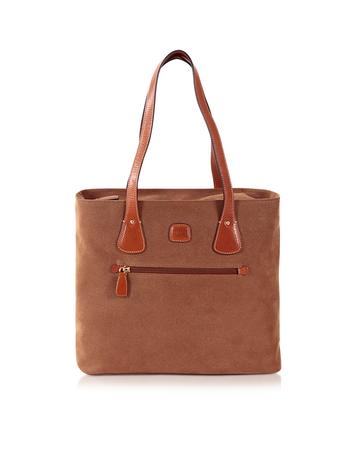 Life Camel Micro Suede Tote Bag