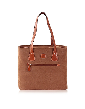 Life Camel Micro Suede Tote Bag