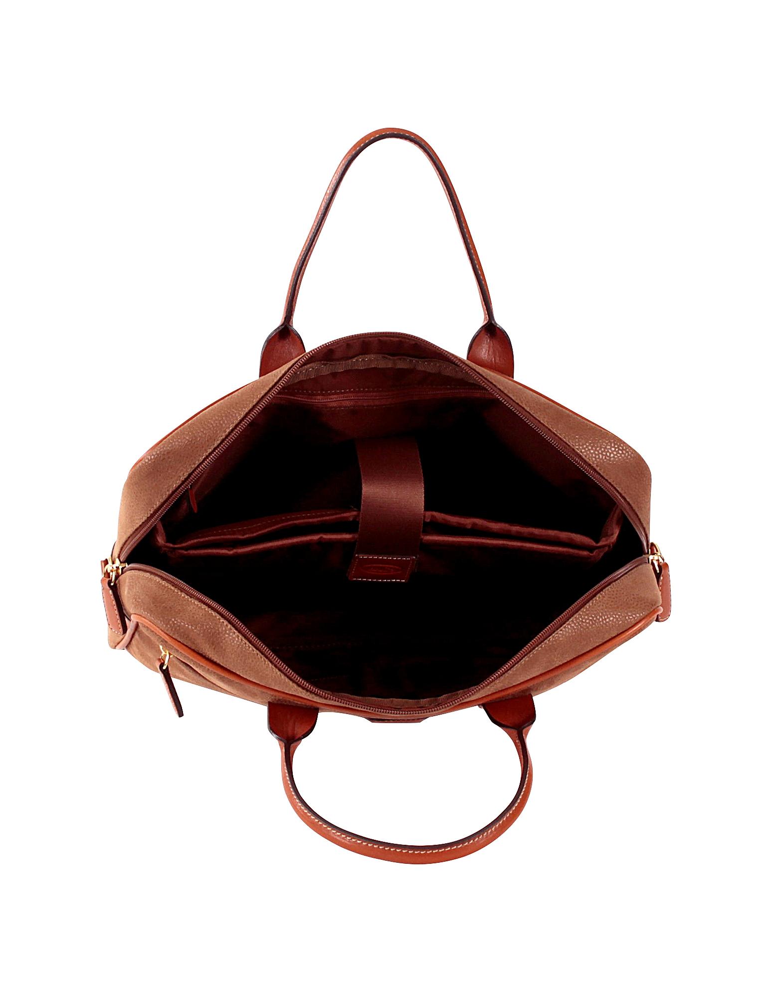 Life Camel Micro Suede Briefcase от Forzieri.com INT
