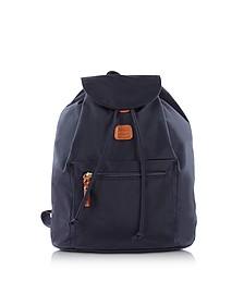 X-Travel Blue Nylon Backpack - Bric's