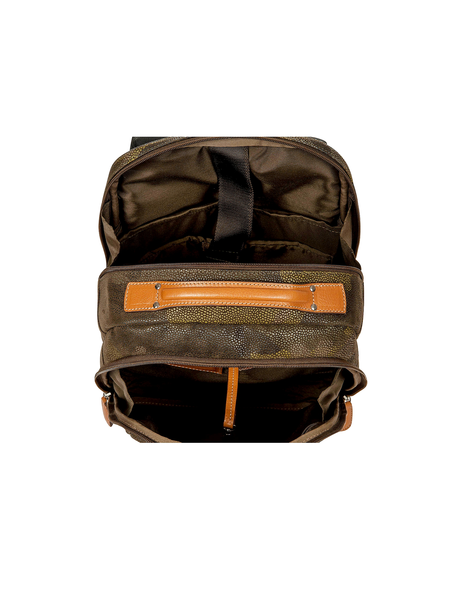 Life Camouflage Military Green Micro Suede Backpack от Forzieri.com INT