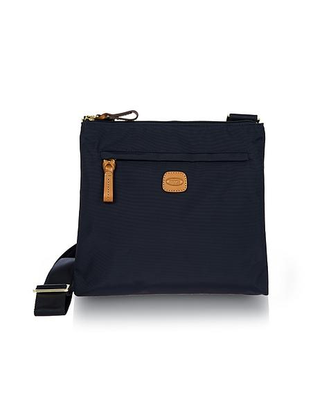 Foto Bric's X-Bag Borsa con Tracolla in Nylon e Pelle Borse Viaggio