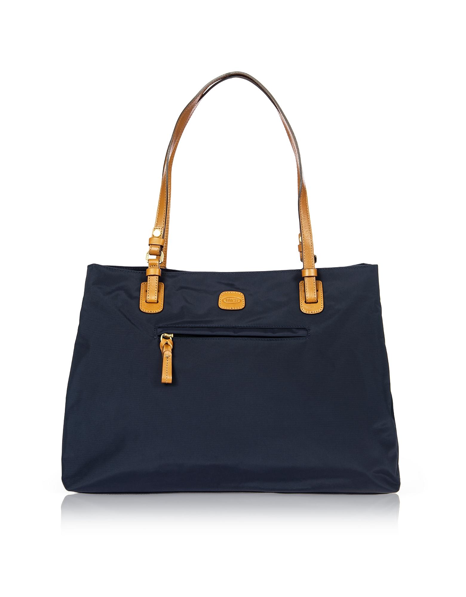 Bric's Designer Travel Bags, X-Bag Large Nylon Tote Bag