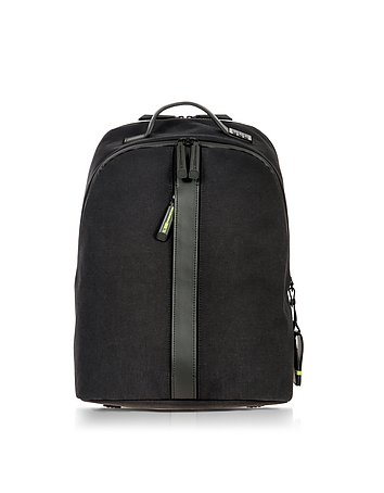 Black Nylon and Leather Classic Backpack bx140217-001-00