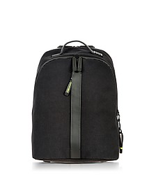 Black Nylon and Leather Classic Backpack - Bric's