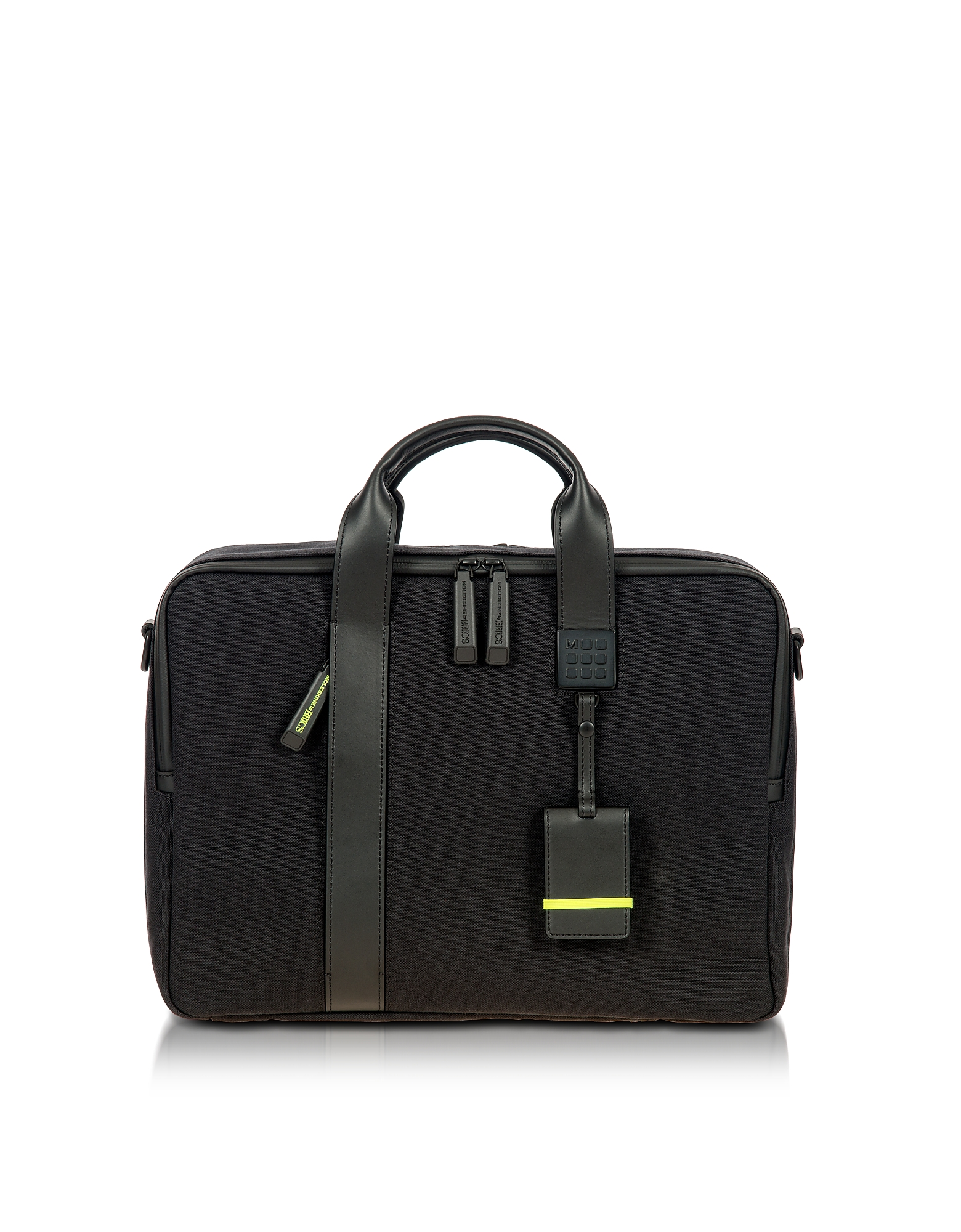 Bric's Briefcases, Black Nylon and Leather Briefcase