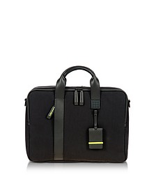 Black Nylon and Leather Briefcase - Bric's