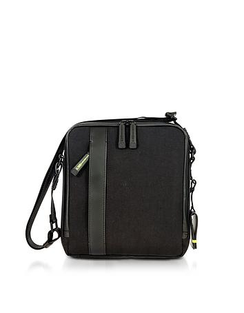 fe539e2de7eb Black Nylon and Leather Crossbody Bag from Bric s at FORZIERI ...