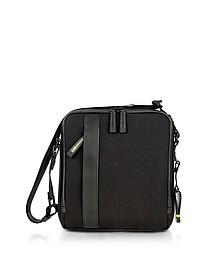 Black Nylon and Leather Crossbody Bag - Bric's
