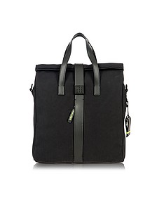 Black Nylon and Leather Tote Bag - Bric's