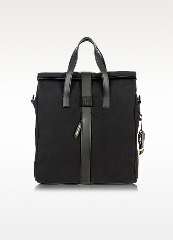 Black Nylon and Leather Tote Bag - Bric's