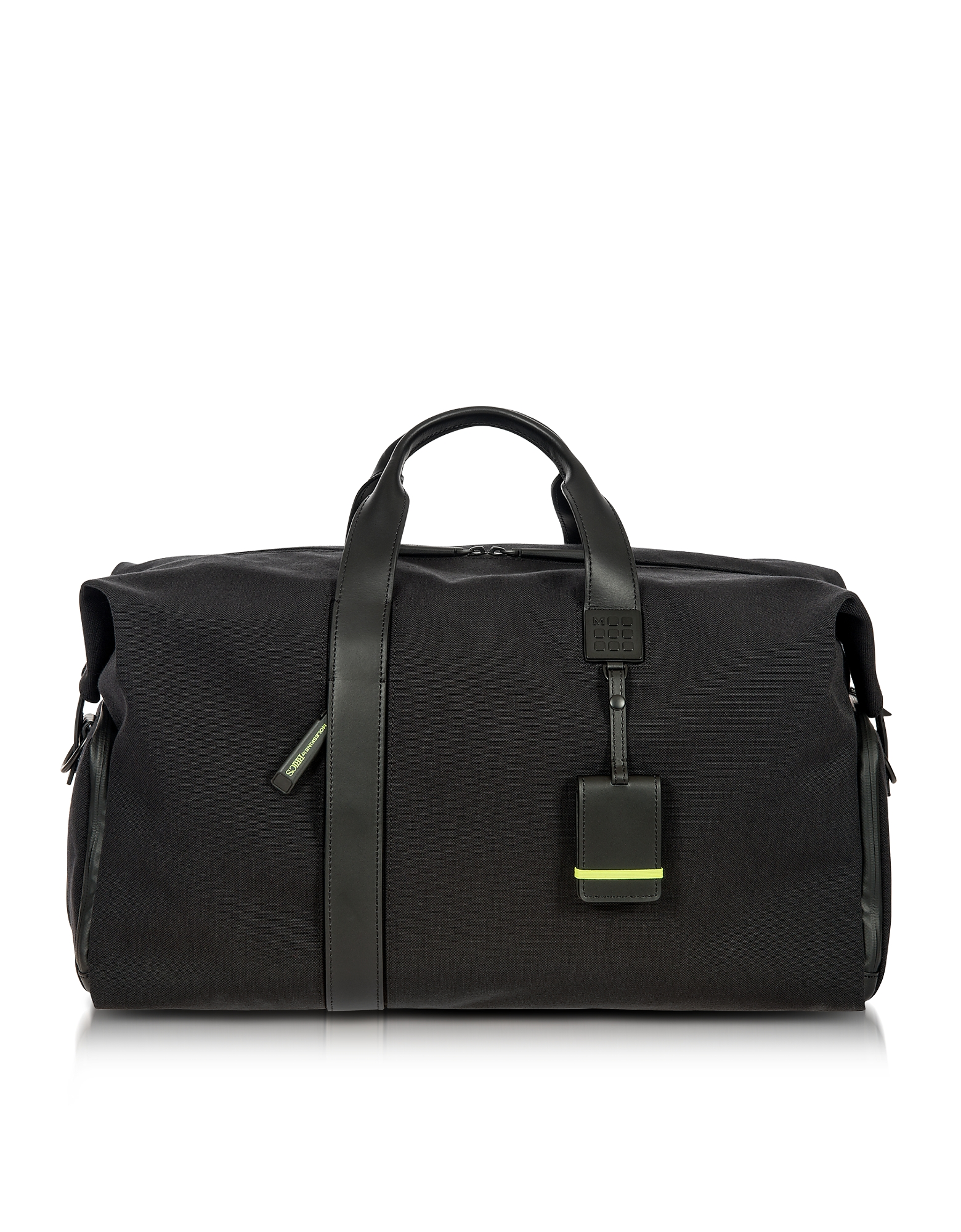 Bric's Travel Bags, Black Nylon and Leather Weekender Holdall