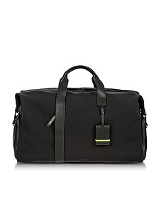 Black Nylon and Leather Weekender Holdall - Bric's
