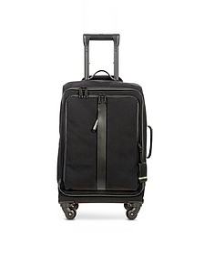 "Black Nylon and Leather 22"" Soft Cabin Trolley - Bric's"