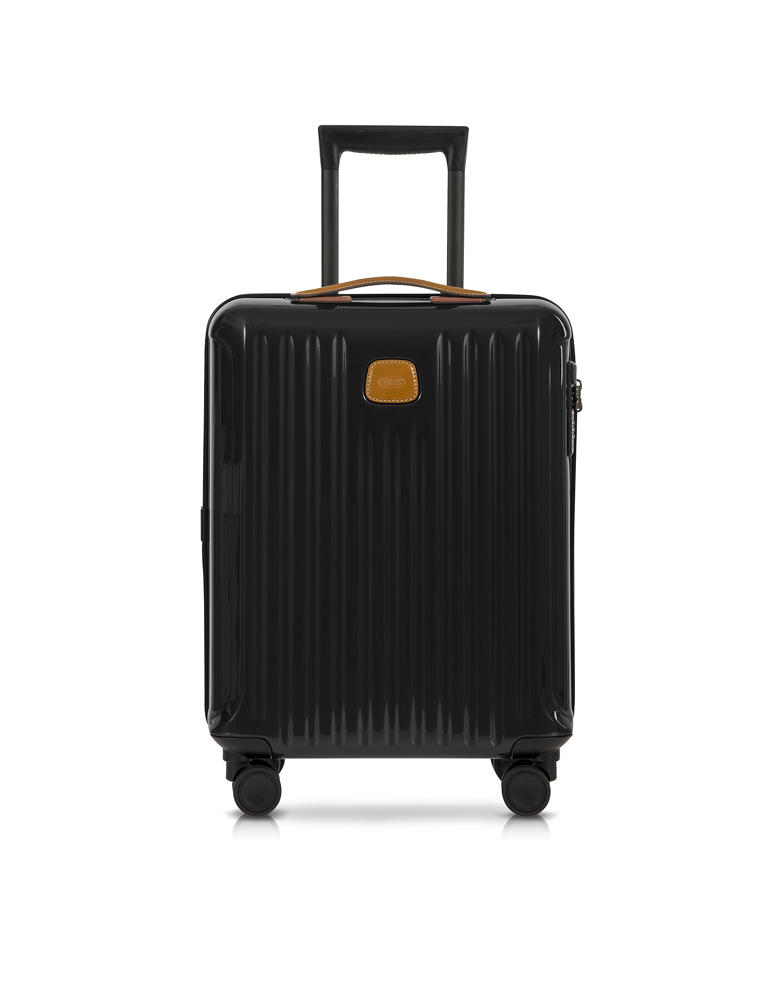 Bric's Travel Bags, Capri Black/Tobacco Polycarbonate Hard Case Cabin Trolley