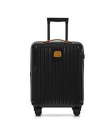 Capri Black/Tobacco Polycarbonate Hard Case Cabin Trolley - Bric's