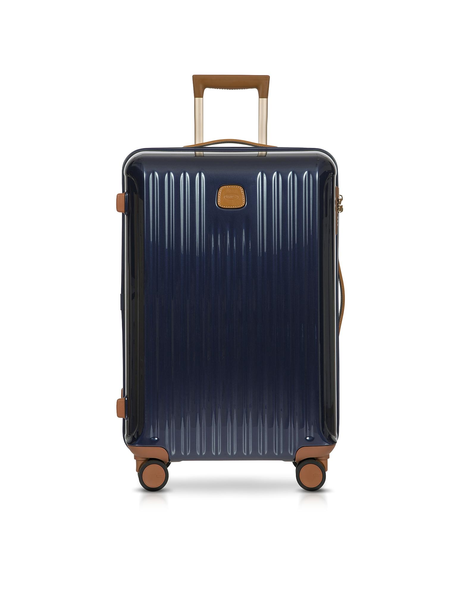 Bric's Travel Bags, Capri Night Blue Polycarbonate Medium Trolley