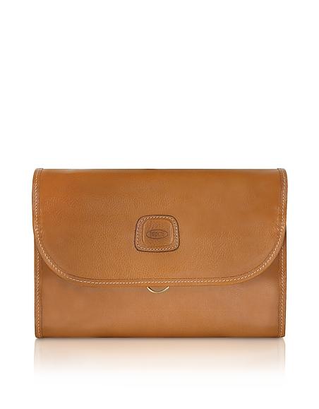 Brics Life Leather - Kulturtasche mit drei Fächern