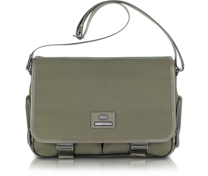 Pininfarina - Nylon and Leather Messenger Bag - Bric's