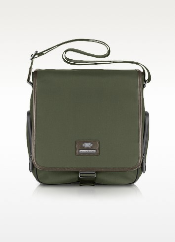 Pininfarina - Nylon and Leather Vertical Messenger Bag - Bric's