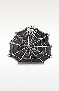 Black Ponyhair Clutch w/Web and Spider - Bernard Delettrez