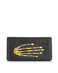 Black Nappa Leather Pochette w/Skeleton Hand - Bernard Delettrez