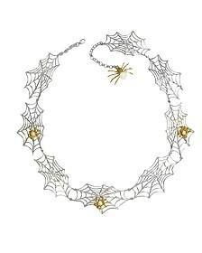 Spider & Netz Halskette aus Silber und Bronze - Bernard Delettrez