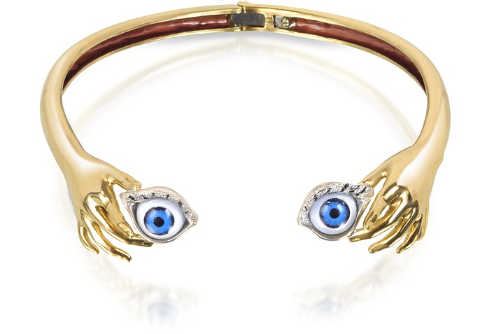 Brass Hand Necklace With Eye - Bernard Delettrez