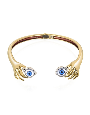 Brass Hand Necklace With Eye