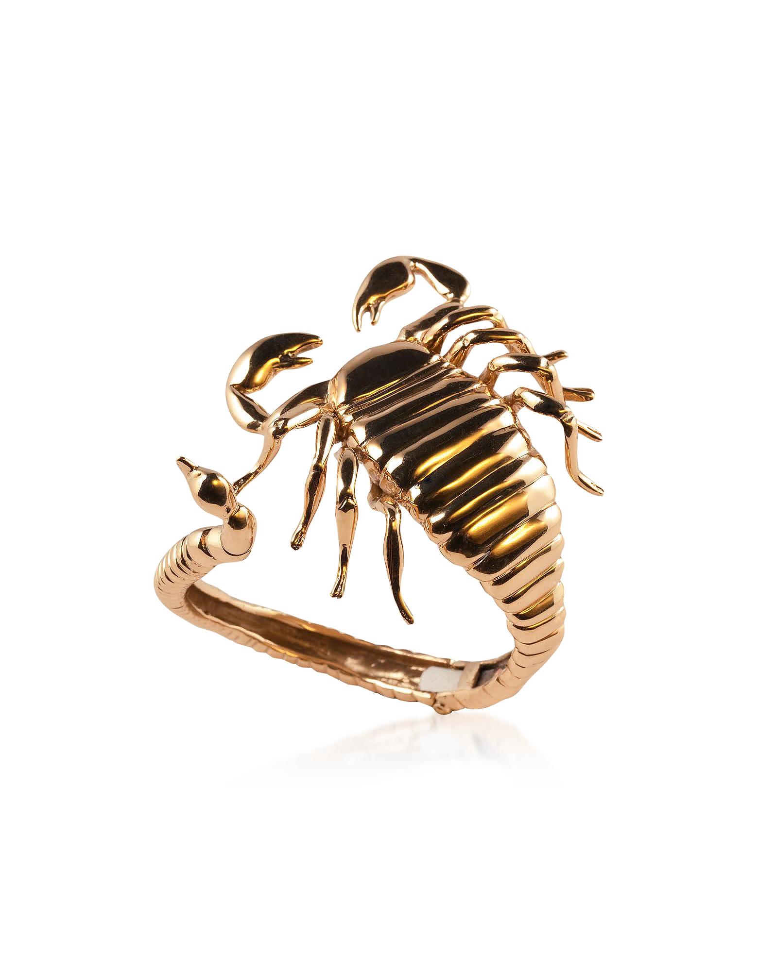 Bronze Scorpio Open Cuff Bracelet