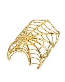 Giant Spiderweb Bronze Cuff Bracelet - Bernard Delettrez