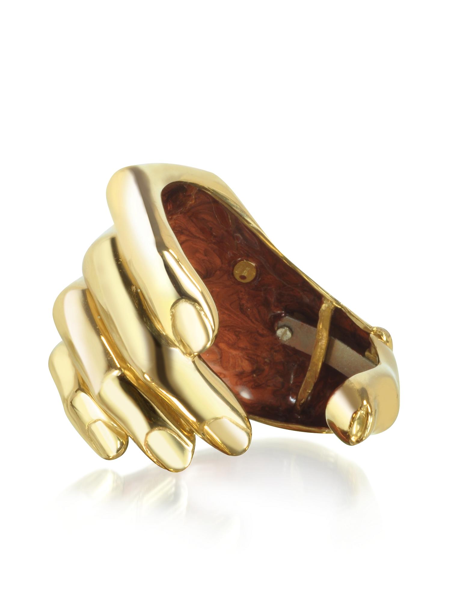 Bernard Delettrez Bracelets, Hand Bronze Cuff Bracelet