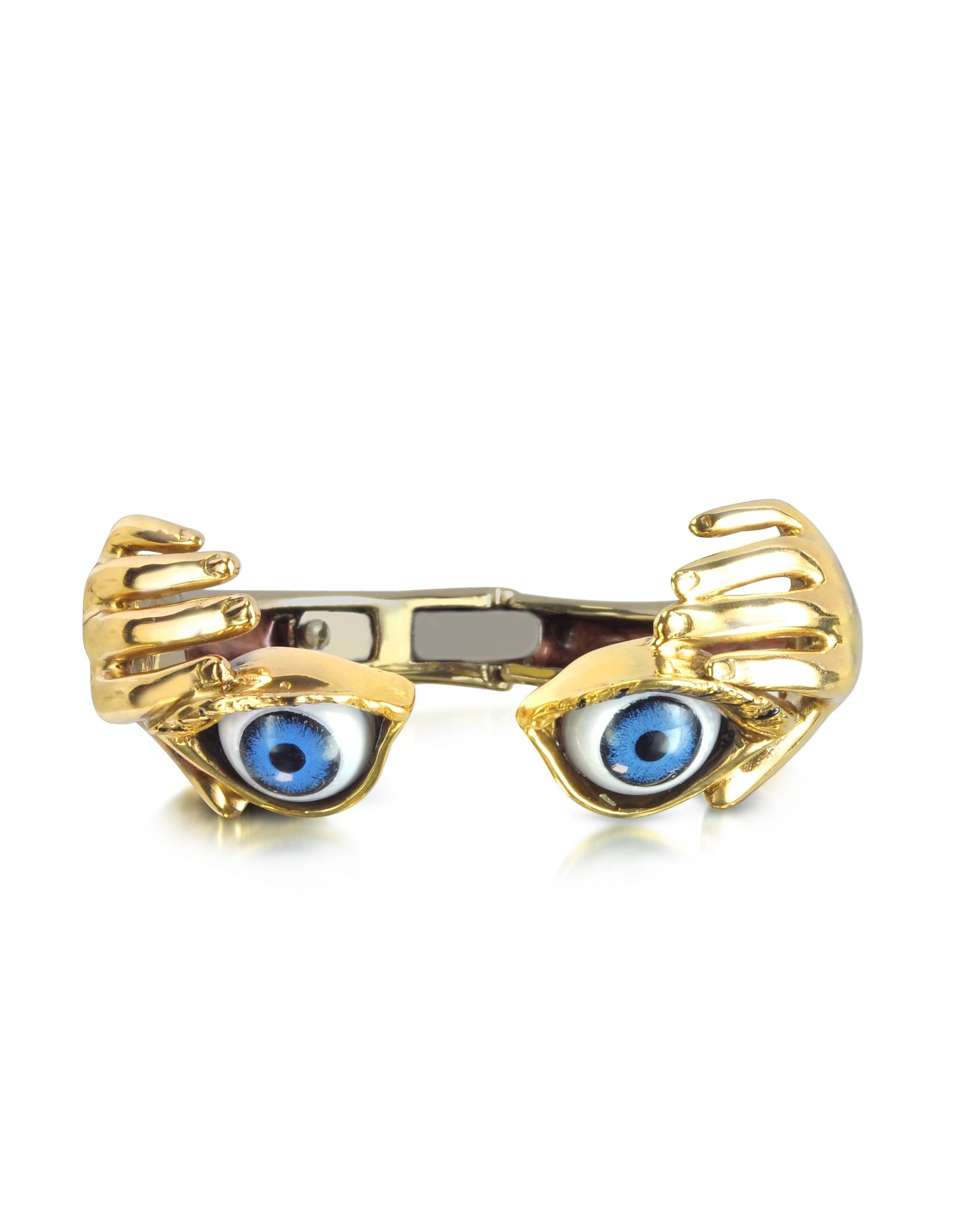 Bernard Delettrez Bracelets, Bronze Hand Stiff Bracelet With Eye