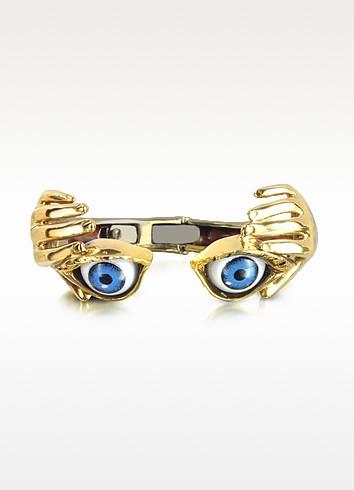 Bronze Hand Stiff Bracelet With Eye - Bernard Delettrez