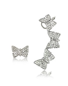 Butterflies White Gold Earrings w/Diamonds - Bernard Delettrez