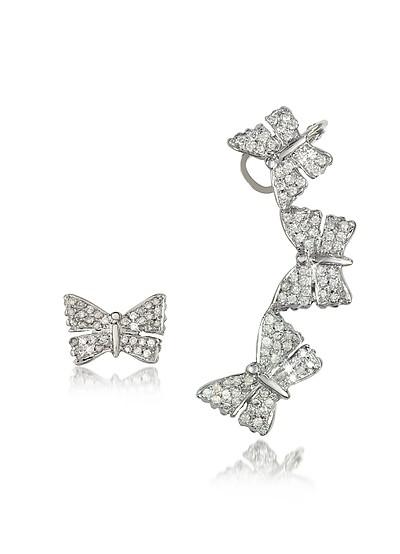 Butterflies White Gold Earrings w/Diamonds - Bernard Delettrez