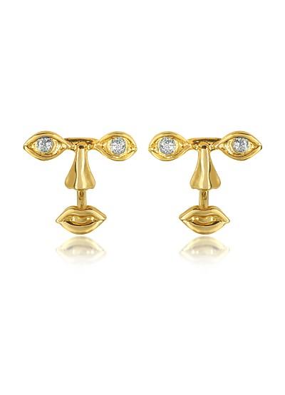 Osvaldo Piercing Gold Earrings - Bernard Delettrez