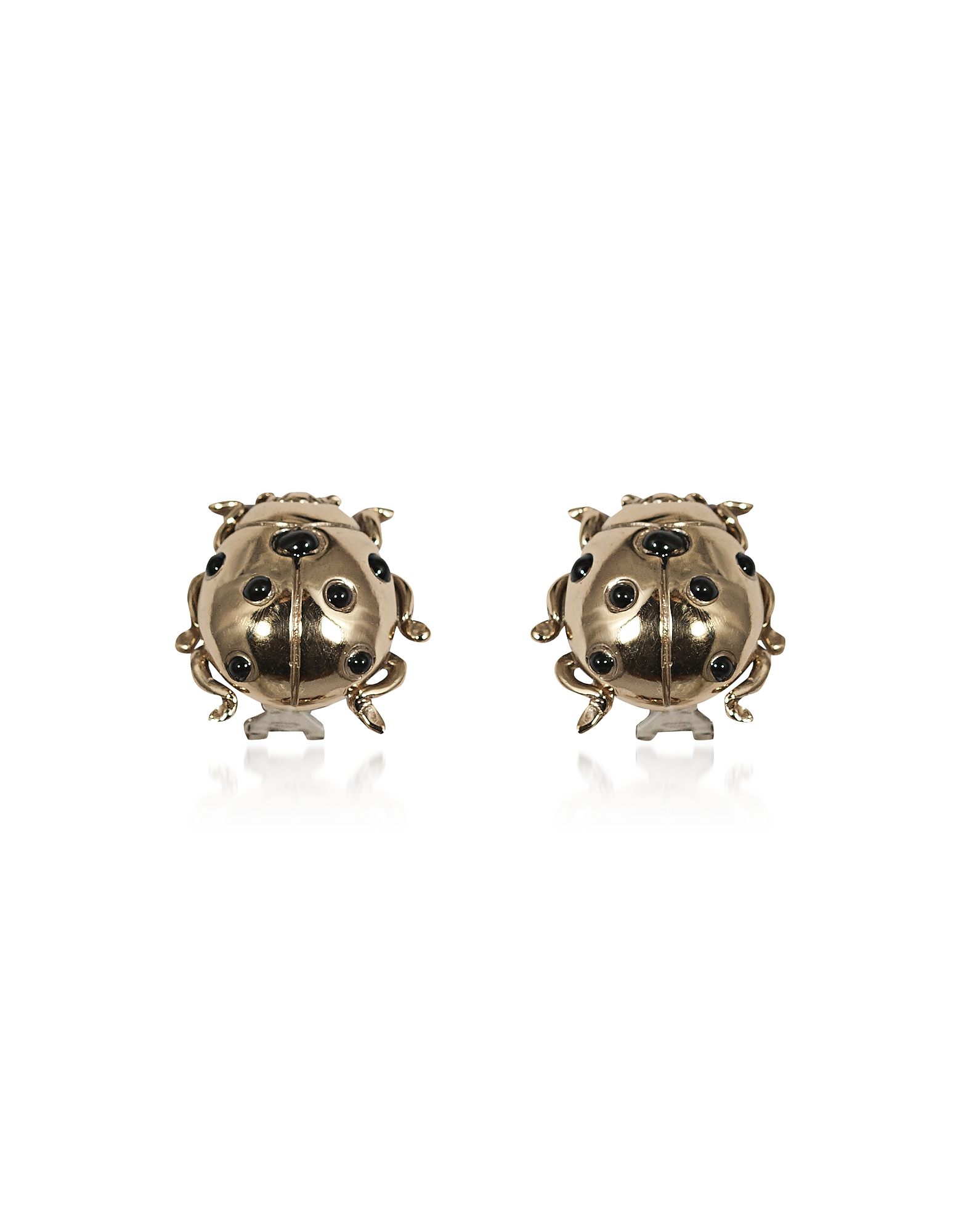 Bernard Delettrez Designer Earrings, Ladybird Bronze Earrings