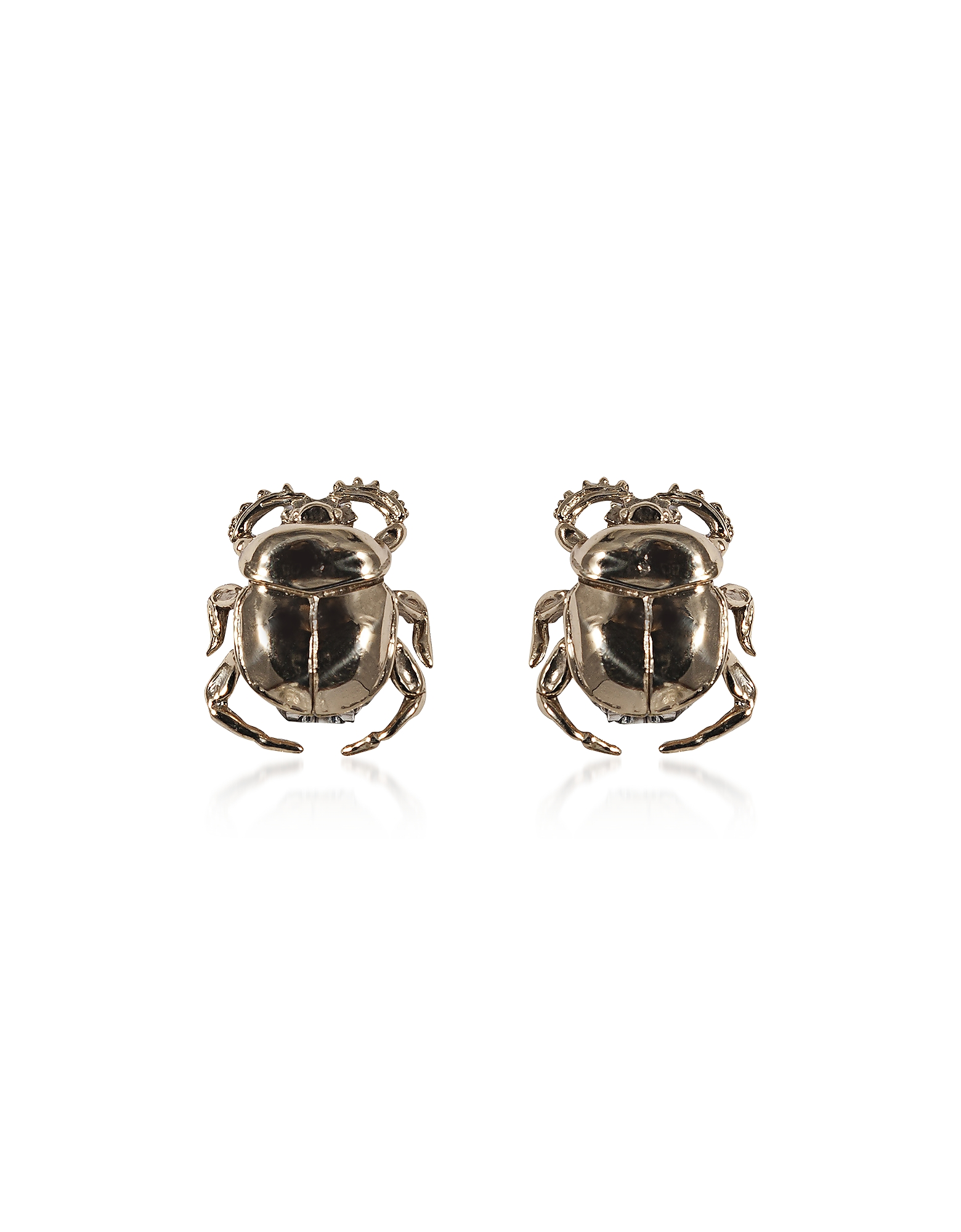 Scarab Bronze Earrings