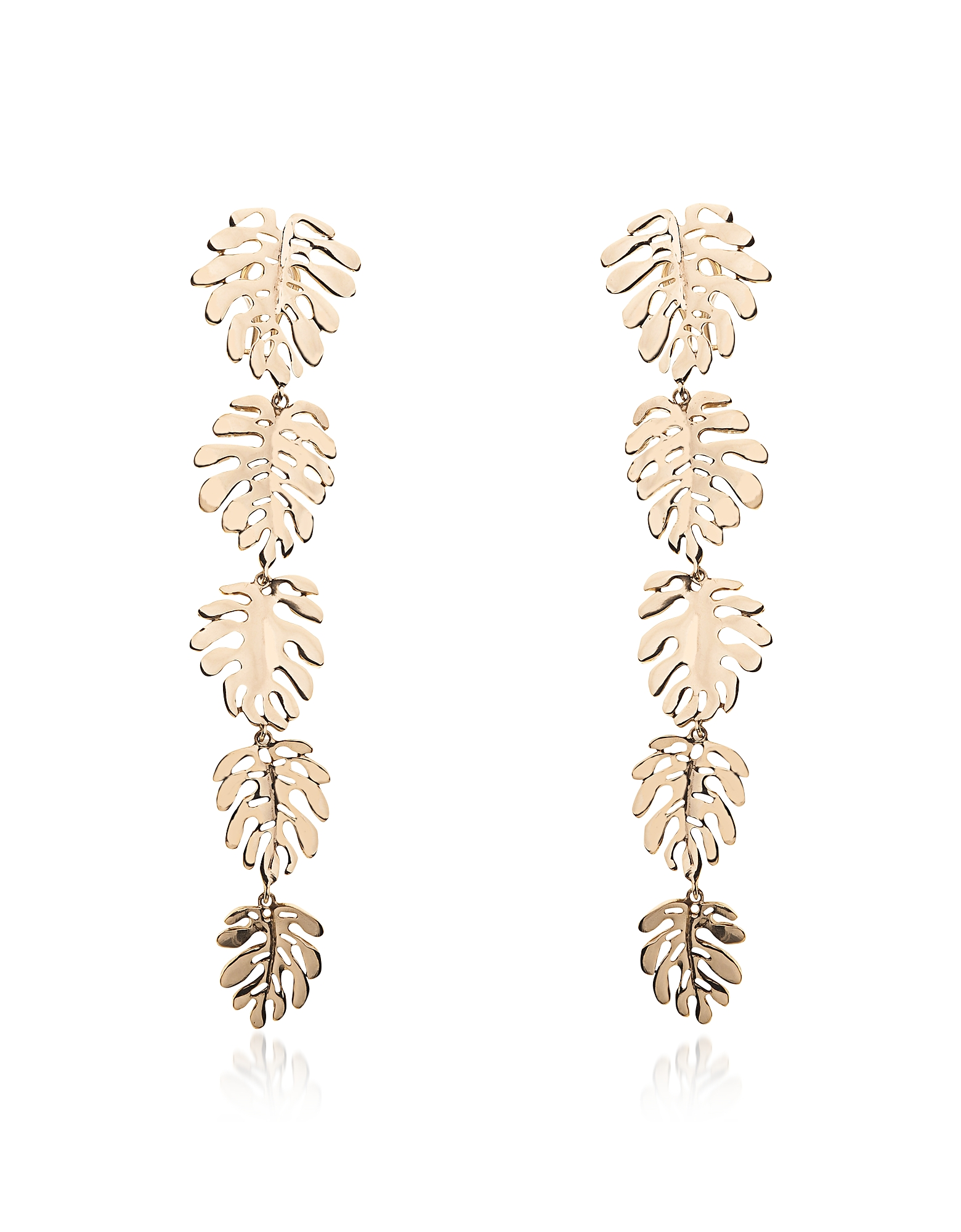 Bronze Five Elephant Ears Leaves Earrings