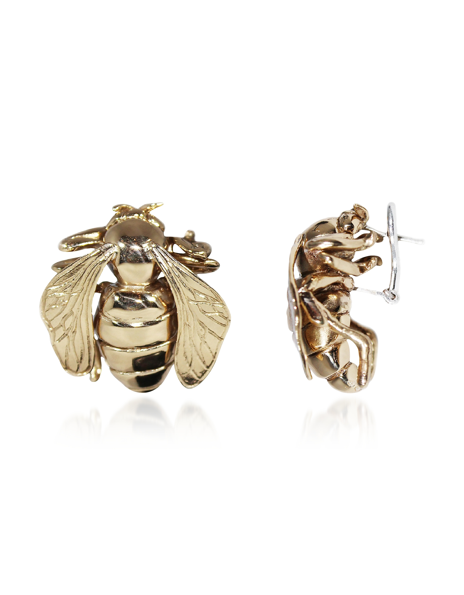 Big Bee Bronze Earrings